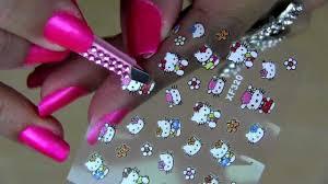 Nail Art Designs - ** HELLO KITTY NAILS, STICKERS, ART & STAR ...