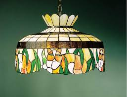 image of stained glass ceiling fan light covers