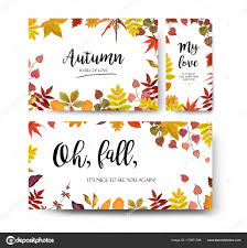 colorful frame border design. Vector Floral Watercolor Style Card Design Autumn Season Border Frame Set: Colorful Orange Yellow Burgundy Red