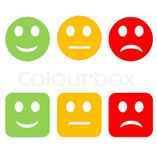 three circle and square happy to sad smileys in white background stock photo colourbox