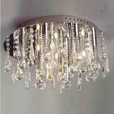 light fetching crystal flush mount lighting brizzo st gold coast with regard to preferred wall