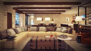 Modern Living Rooms Awesome Living Room With White Sofa L Design And Dark Wallpaper