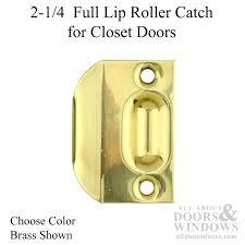 2 1 4 full lip roller catch for closet doors solid brass choose color door ball closet door ball catch