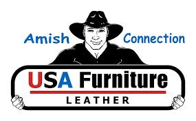 usa amish furniture leather