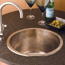 redondo grande bar kitchen prep sink in brushed nickel cps551