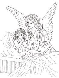 Guardian Angel Prayers Coloring Page Free Printable Coloring Pages