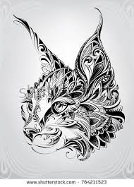 Lynx Head In Ornament Keramikmalerei Pinterest Tatuaggi Idee