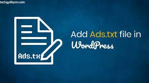 add ads txt file in wordpress site 2