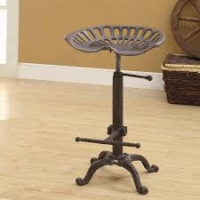 bar stools home depot. Carolina Cottage Tractor Seat Adjustable Height Industrial Bar Stool Stools Home Depot