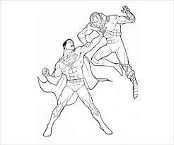 Pick the colors you see on the image above and paint. Free 9 Superman Coloring Pages In Ai
