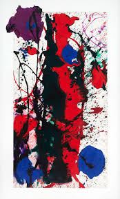 sam francis untitled acrylic on paper