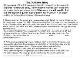 response to literature essay format the outsiders outline  response to literature essay format 9 the outsiders outline