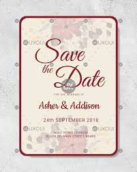 Save The Date Designs Floral Save The Date Card Design Template Vector For Wedding Uxoui