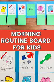 Morning Routine Chart For Kids Diy Crafts Mas Pas