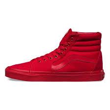 vans shoes high tops red. mens high top shoes | vans mono canvas sk8-hi with red color h84i2239 men\u0027s tops red p