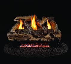 this split oak log set for vent free fireplaces is double sided so that you can put it in a see through fireplace with confidence