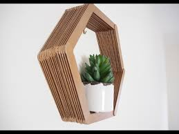 diy hexagon shelf tutorial