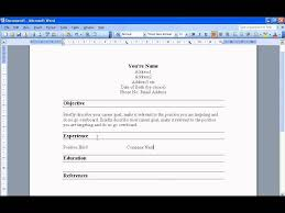Resume Template How To Create A In Microsoft Word Fast And Easy