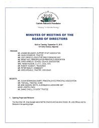 MINUTES OF MEETING OF THE BOARD OF DIRECTORS