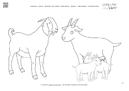 Coloring Pages Of Goats Beginners Bible Valentines Day Page Goat