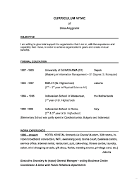 Objectives On Resumes Good Objective For Resume Great Objectives
