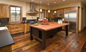 hardwood floors kitchen. This Rustic Kitchen Has A Very Country Atmosphere. The Worn Look In Wooden Floor Hardwood Floors O