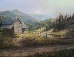 rustic cabin oil painting by kevin hill watch short oil painting lessons on you