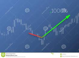 Trend Line Up On Stock Chart Background 3d Illustration