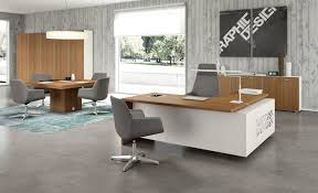 white gray solid wood office. Executive Desk Chair High End Office Furniture Shaped Set Modern Workstations Solid Wood Computer Staples White Gray O