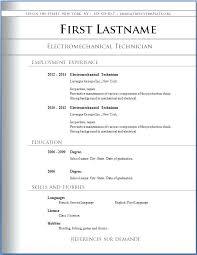 Online Resume Format Resume Example Template Free Basic Resume