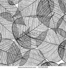 leaf black and white. seamless leaves pattern. vector black and white background texture leaf
