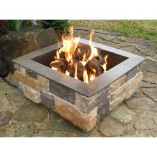 square fire pit with build your own gas kit diy natural burner parts