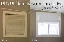 transform your old blinds into fabric roman shades no sewing involved