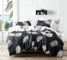 100 cotton king quilt super soft cotton king oversize bedding stylish palms tropical pattern essential black