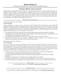 Sample Hotel Resume Hotel Management Resume Simple Resume Sample Hotel And Restaurant 38
