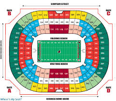 Falcons Game Seating Chart Elegant Falcons Stadium Seating Chart Michaelkorsph Me