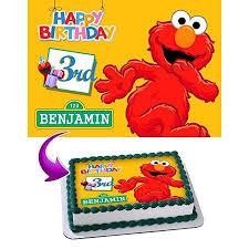 Elmo Sesame Street Birthday Cake Personalized Cake Toppers Edible
