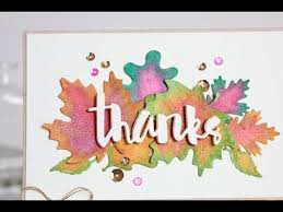 Watercolor thank you cards Within Youtube Watercolor Leaves Thank You Card Youtube