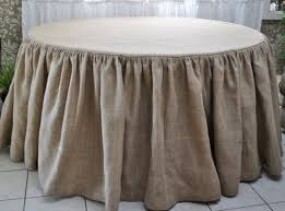 burlap table covers rustic tablecloth circle shape