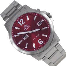 orient classic automatic red dial mens watch fem7j009h em7j009h