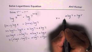 solve exponential equation using logarithms with diffe base