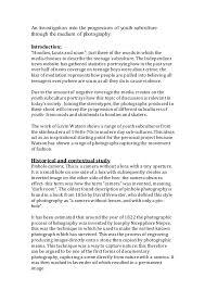 essay subculture essay