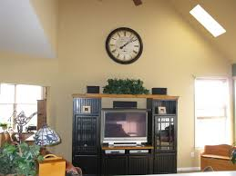 vaulted ceiling wall decor lovely decorating ideas for tops of entertainment centers with