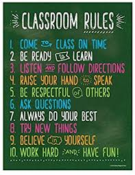 Math Charts For High School Classroom Rules Posters For Science History Reading Music