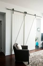 Bedroom : Exquisite Cool Double Sliding Barn Doors Overlapping ...