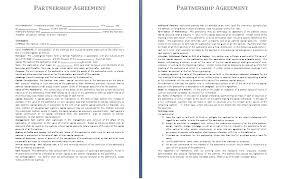Partnership Agreement Example | Bio Example
