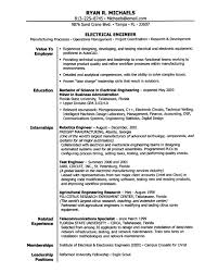 Electrical Engineering Entry Level Resume Samples Vault Com