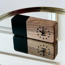 image 0 wooden desk clock small wood table quartz silent wooden desk clock
