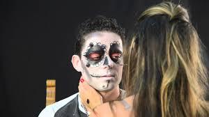 sugar skull man makeup look