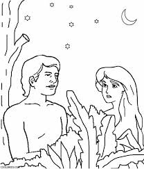 Small Picture Peachy Adam And Eve Coloring Pages For Kids Printable Adam Eve